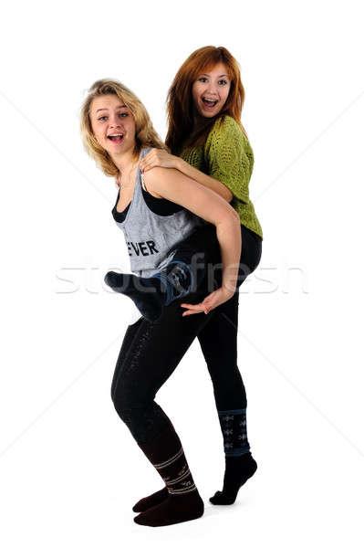Dos jóvenes amistad feliz a la gente Foto stock © Aikon