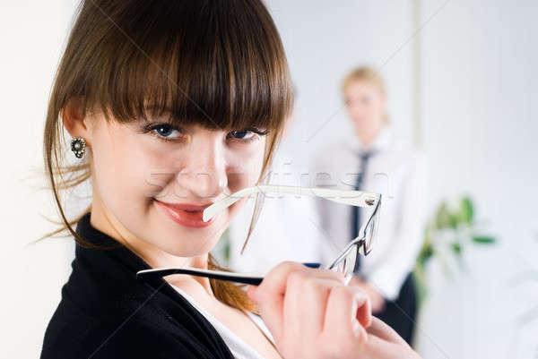 Jeunes séduisant affaires dame bureau belle Photo stock © Aikon
