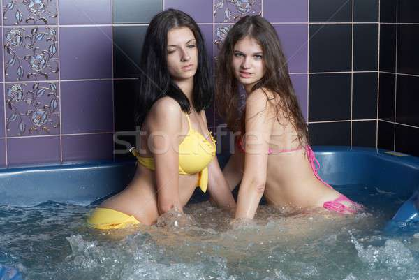 Girls in massage bath Stock photo © Aikon