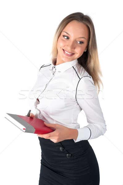 Sonriendo mujer de negocios organizador atractivo estudiante mujer de negocios Foto stock © Aikon