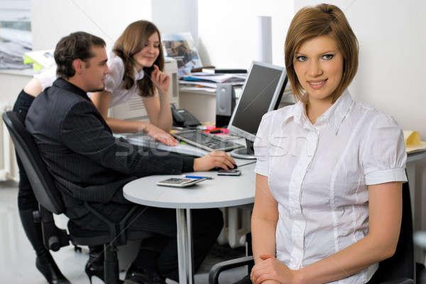 молодые бизнеса Lady улыбаясь служба привлекательный Сток-фото © Aikon