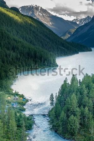 Kucherla lake Stock photo © Aikon