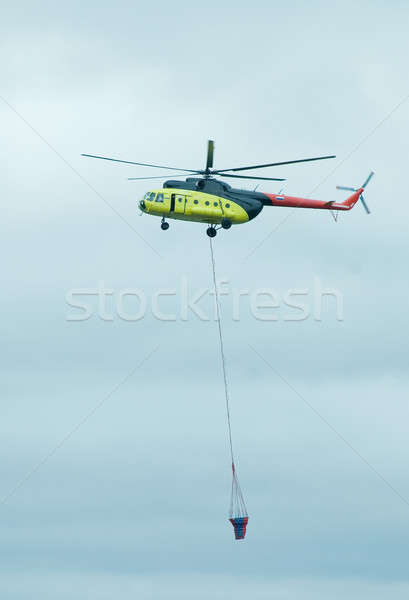 Helicopter with antifire tank Stock photo © Aikon