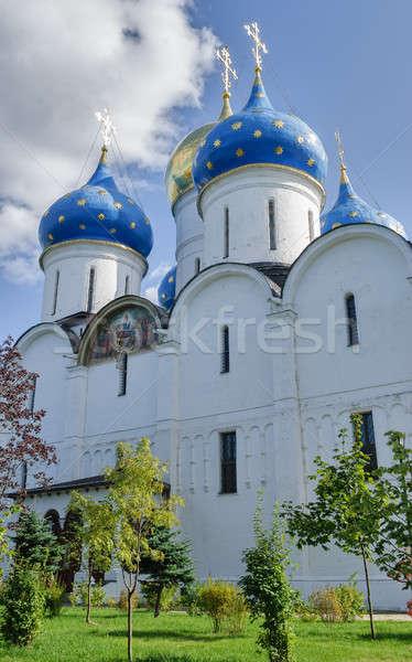 Szent 2009 katedrális égbolt épület fal Stock fotó © Aikon