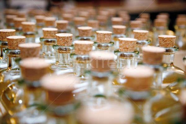 üvegek üveg dugó csetepaté raktár bor Stock fotó © Ainat