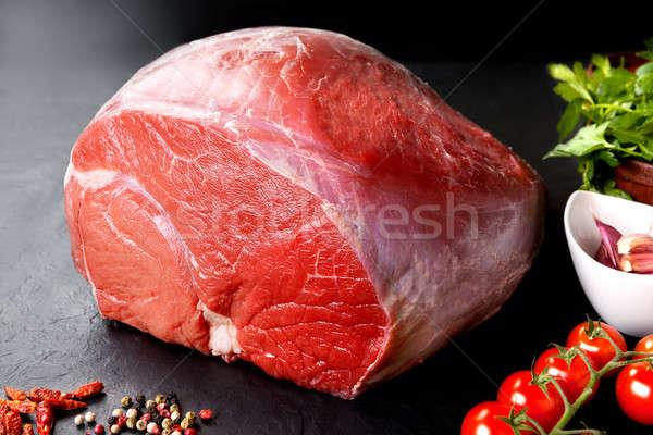 Nyers hús friss disznóhús marhahús piros Stock fotó © Ainat