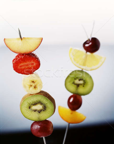 colorful fruit skewer Stock photo © Ainat
