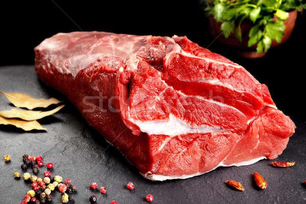 Friss nyers hús csendélet piros steak Stock fotó © Ainat