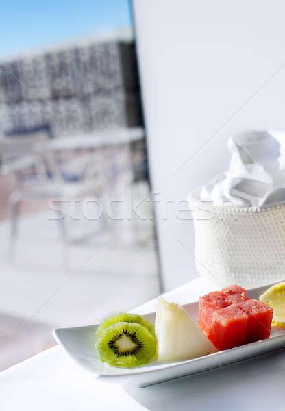 Egészséges reggeli külső kilátás színes étvágygerjesztő Stock fotó © Ainat