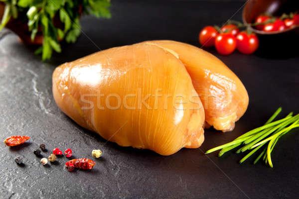Crudo carne todo pechuga de pollo amarillo pollo Foto stock © Ainat