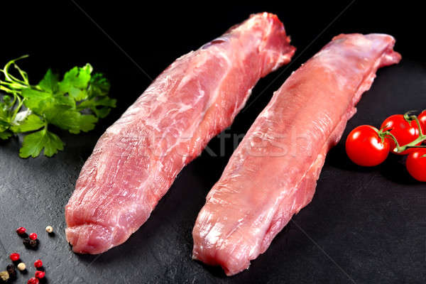 Fresh and raw meat. Still sirloin. Grilled meat or grilled Stock photo © Ainat
