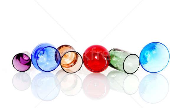 Absztrakt színes körök szemüveg kép kristály Stock fotó © Ainat