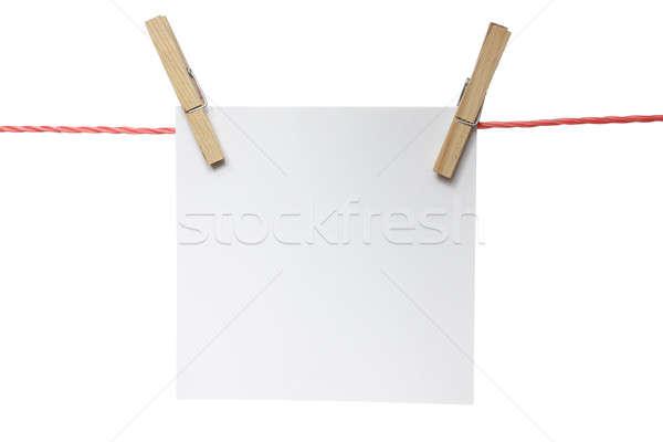 発表 注記 絞首刑 孤立した 白 ストックフォト © Aitormmfoto