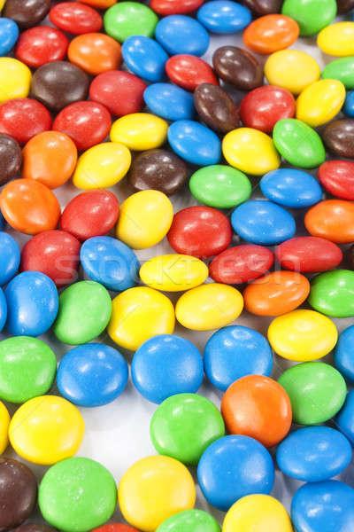 カラフル チョコレート キャンディ 背景 ライフスタイル マクロ ストックフォト © Aitormmfoto