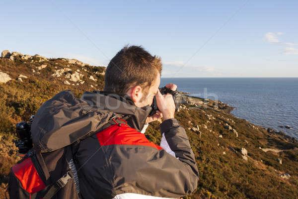 Giovani fotografo campagna cielo Foto d'archivio © Aitormmfoto