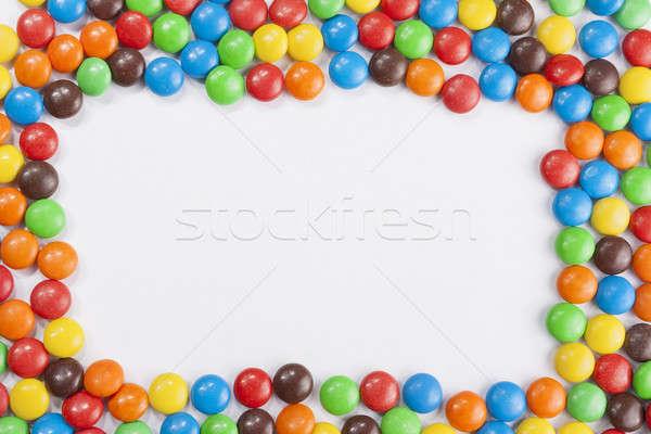 Chocolade frame kleurrijk witte ruimte Stockfoto © Aitormmfoto