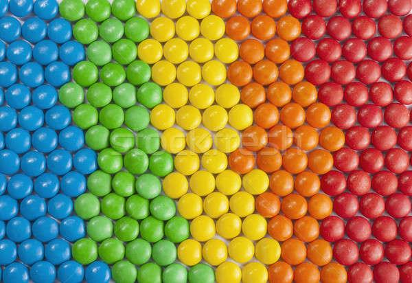 カラフル チョコレート キャンディ ゲイ 背景 ライフスタイル ストックフォト © Aitormmfoto