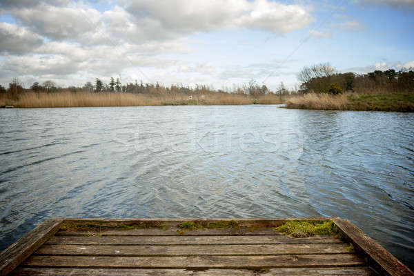 Stock photo: Dock lake