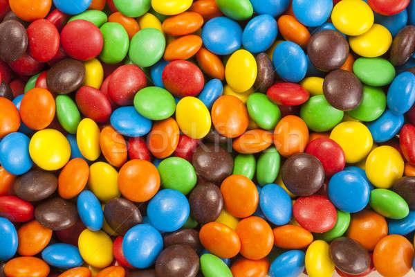 Kleurrijk chocolade snoep achtergronden macro fotografie Stockfoto © Aitormmfoto