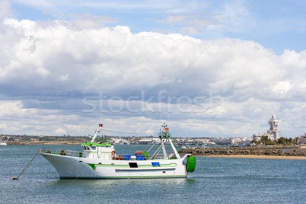 漁船 川 スペイン ポルトガル 魚 光 ストックフォト © Aitormmfoto