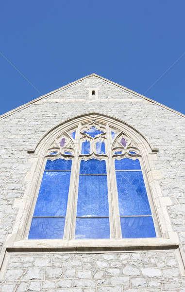 Kerk venster hoek shot mooie hemel Stockfoto © Aitormmfoto