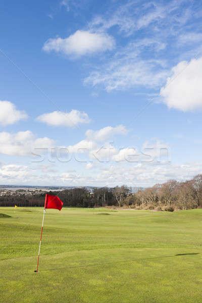 ゴルフ フラグ 緑 ツリー 太陽 ストックフォト © Aitormmfoto