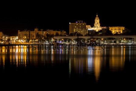 Malaga at night Stock photo © Aitormmfoto