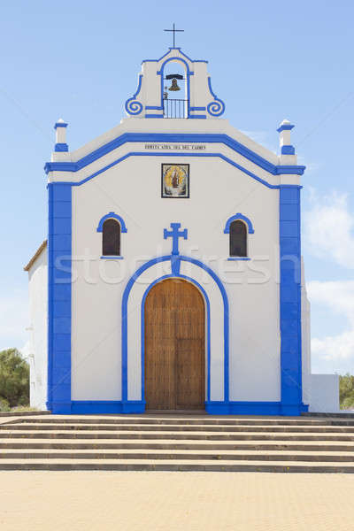 Klein kerk Spanje mooie katholiek Stockfoto © Aitormmfoto