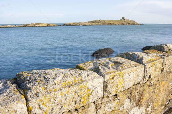 小 島 見える 地平線 壁 夏 ストックフォト © Aitormmfoto