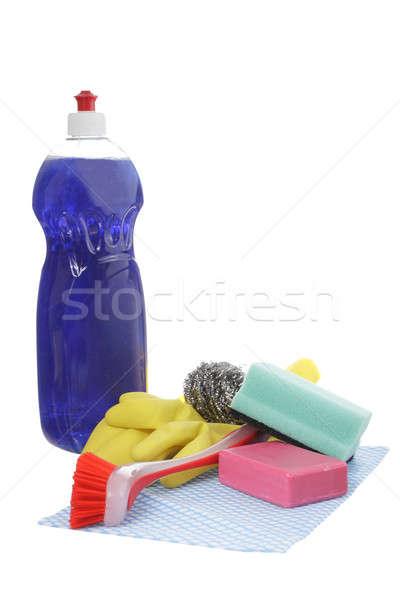 洗浄 製品 オブジェクト グループ 孤立した 白 ストックフォト © Aitormmfoto