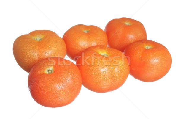 グループ トマト 6 赤 孤立した 白 ストックフォト © Aitormmfoto