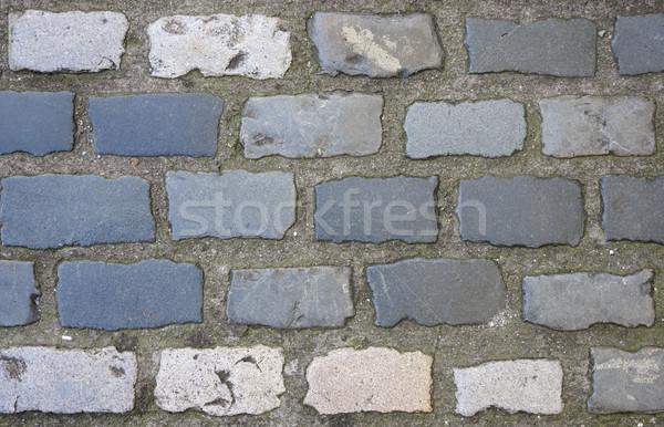 背景 グレー パス 石の壁 テクスチャ ストックフォト © Aitormmfoto