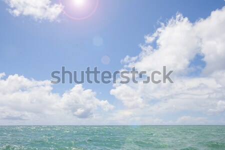Zonnige zee zonneschijn strand water zon Stockfoto © Aitormmfoto