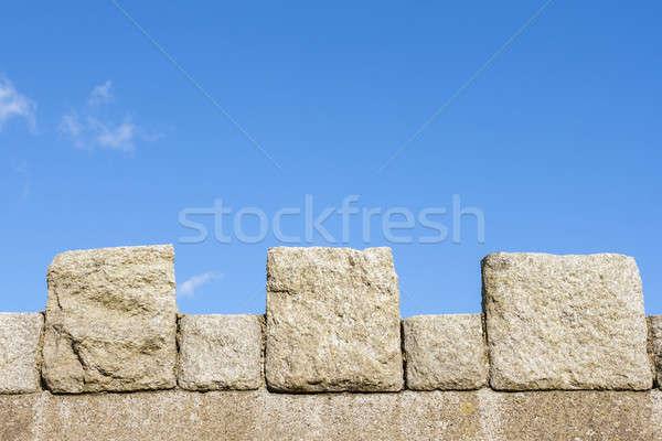 ストックフォト: 中世 · 壁 · 空 · テクスチャ · 石 · 歴史