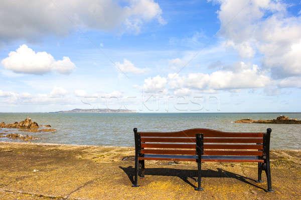 Bank zee mooie strand zon natuur Stockfoto © Aitormmfoto
