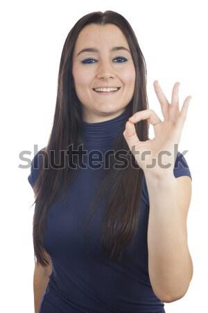 クローズアップ 若い女性 にログイン 少女 ストックフォト © Aitormmfoto