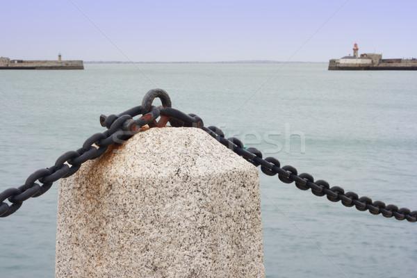 Marine landscape at promenade of port Stock photo © Aitormmfoto