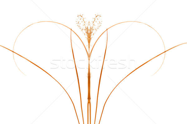 Stock photo: Foliage art mirrored