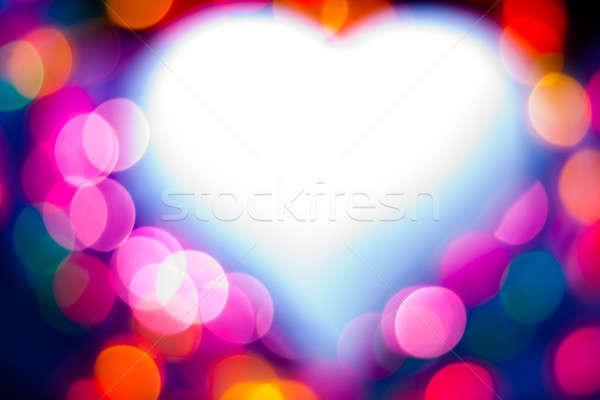 Defocused heart Stock photo © ajfilgud
