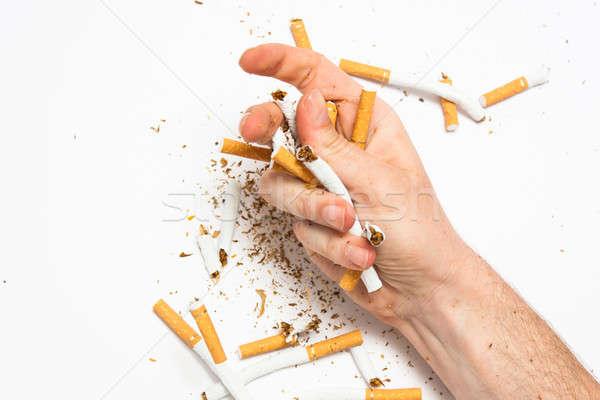 курение зависимость иллюстрированный сигарету еды здоровья Сток-фото © ajfilgud