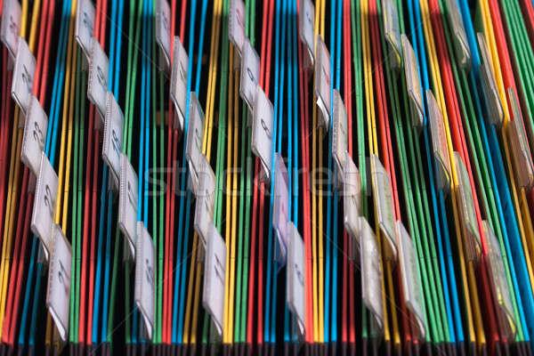 Photo stock: Documents · dossiers · archive · couleurs · nombre · bureau