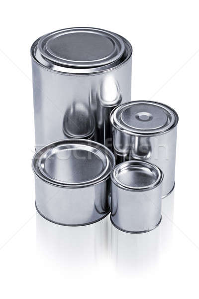 Different sizes of paint cans Stock photo © ajfilgud
