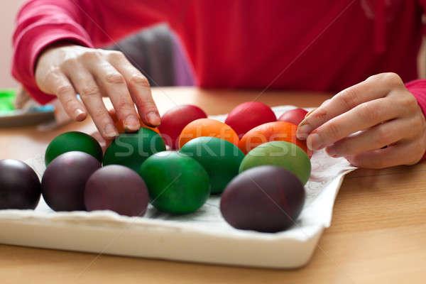 Painting eggs Stock photo © ajfilgud