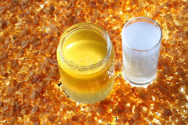 Honey and milk Stock photo © ajfilgud