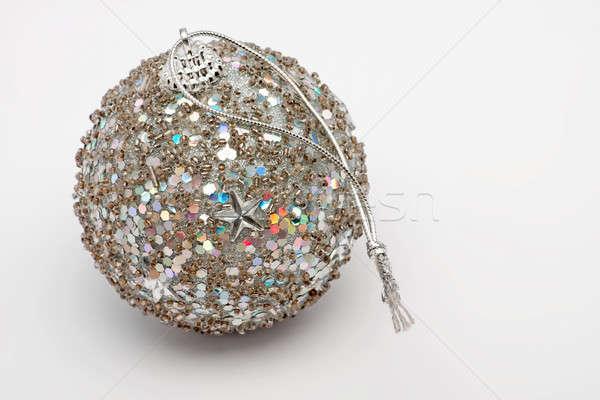 Año nuevo pelota perlas decoración primer plano decorativo Foto stock © ajfilgud