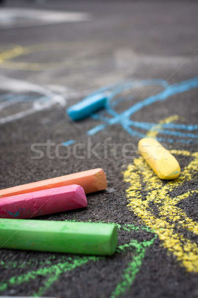 Chalk on playground Stock photo © ajfilgud