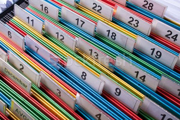 Photo stock: Placard · documents · dossiers · archive · couleurs · nombre