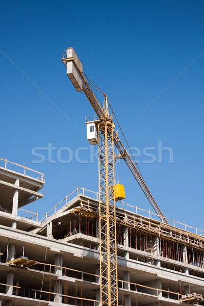 Bina beton vinç yapı Stok fotoğraf © ajfilgud