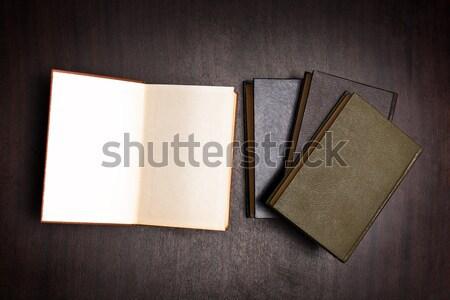 пусто книга темно белый таблице Сток-фото © ajfilgud