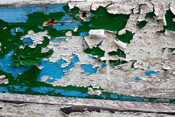 Vecchio vernice barca può vedere Foto d'archivio © ajfilgud